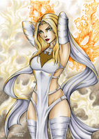 Emma Frost Commission by ColletteTurner