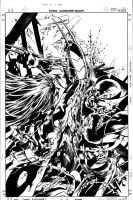 Dark Avengers 08 Cover Pencil by MikeDeodatoJr