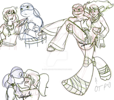 TMNT  2012 doodles part 2 by malasia19845
