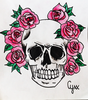 Skull and Roses by cyxxofficial