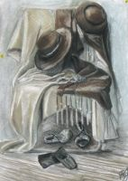 Still life with the hats and shawls by articraft
