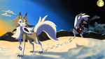 Lycanroc - Sons of sun and moon by shinyscyther