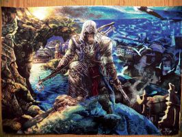 Assassin's Creed 3 - Connor (colored pens) by ShizuneRu