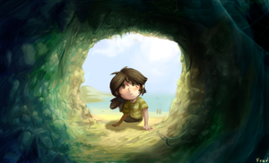 Cave curiosity by Frario