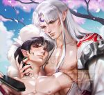 sesshomaru X Male kagura .YAOI tag. by sakimichan