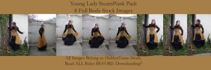 Young Lady SteamPunk Pack by HiddenYume-stock