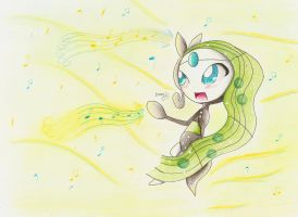 Meloetta loves to sing by SuperSunny08