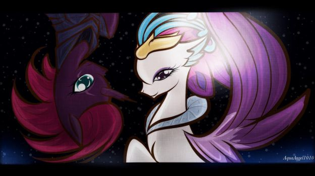 MLP: Tempest Shadow and Queen Novo by AquaAngel1010