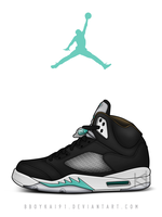 Air Jordan 5 'Mint' by BBoyKai91
