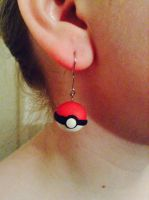 Pokeball Earrings by Kyrie-joy