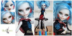 MH Ghoulia repaint #5 ~Romila~ by RogueLively