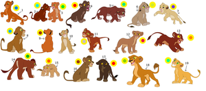 FREE !!!!!!!!!!!!! lion cub adoptables by knowitall123-adopts