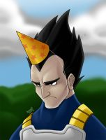 Vegeta doesn't like parties by LorenzoSabia