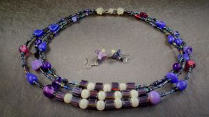 Antique purple and black three-strand set by copper9lives