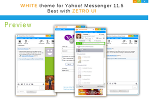 WHITE - Metro UI Skin for Yahoo Messenger 11.5 by Lerauxe