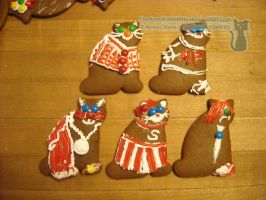 Gingerbread Cats 05 by ConfusedLittleKitty