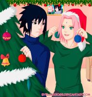 SasuSaku Happy New Year (version 1) by byBlackRose