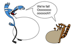 Mordecai and Rigby get fat by FootballLover