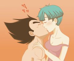 Vegeta and Bulma- Cant resist by Beastwithaddittude