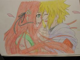 Minato and Kushina cuties - colored by Vero-desu