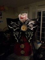 Bayonetta's Umbran witch cloak WIP by AriaCosplay