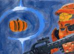 Halo-ween painting by AgentCrossfire