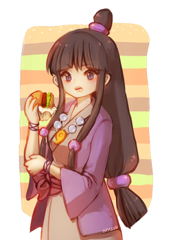 ace attorney -- burger time!! by onisuu