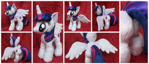 Princess Twilight Plushie (Open Wing) by equinepalette