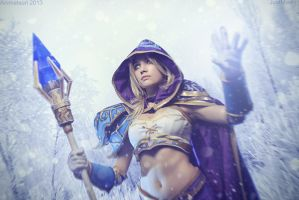 Warcraft III - Jaina Proudmoore: Blizzard spell by Narga-Lifestream