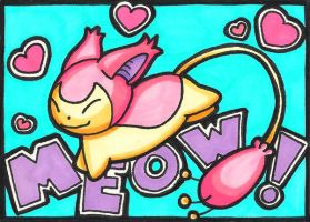 Skitty ACEO by Foxy-Sketches