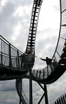 Reaching out...on Tiger and Turtle by joecurly