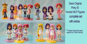Original Pinky St MLP FIM Mane 6 cast figures by bluepaws21