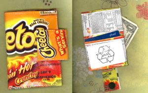 Flamin Cheetos Wrapper Wallet by RyuuseiHime