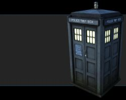 TARDIS Wallpaper by Scarecrovv