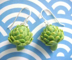 Artichoke Earrings by KawaiiCulture