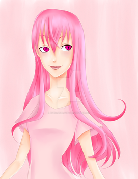 Pink Haired Girl by GwenCanDrawZat