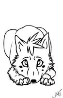 Ryker Puppy Lineart :NOT FREE: by pinkykyra