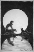 between the moon and water by dante-mk