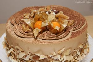 Coffee chocolate cake by patchow