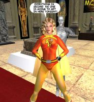 Electra Woman Guards The Museum by The-Mind-Controller