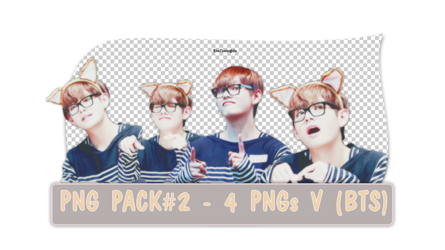 Pack PNG#2 - 4 PNGs V(BTS) by RinFoxie