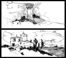 Places Sketches by LakeHurwitz