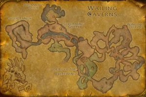 Wailing Caverns Map by Relentless666