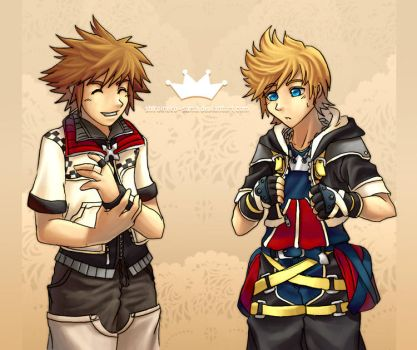 KH2: Exchanging Clothes by ShiroiNeko-sama