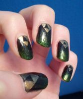 Triforce Nails (mini-tut) by Arrieva