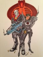 Destro and Baroness by FlatsNColors