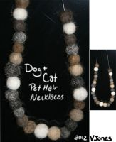 Cat and Dog Hair Necklace by VeronicaRosejones
