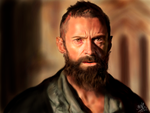 iPad finger painting of Hugh Jackman by chaseroflight