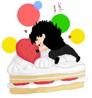Chibi Wednesday 13 - Cake by VegetaNiko