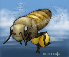 Little Flying Bee by aireona93